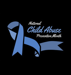 National child abuse prevention month vector
