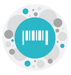 Of shopping symbol on bar code vector