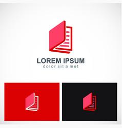open book logo vector image