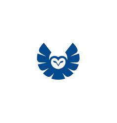 owl logo design template bird logo concept vector image
