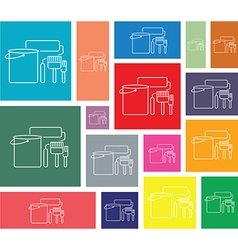 Painting icon set vector