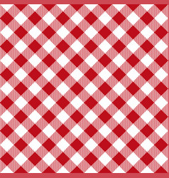 Picnic table cloth seamless pattern red picnic vector