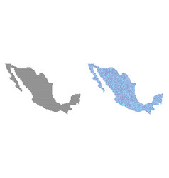 Pixel mexico map abstractions vector