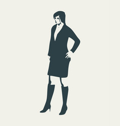 Posing lady silhouette vector