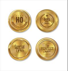 Premium quality golden labels collection 3 vector