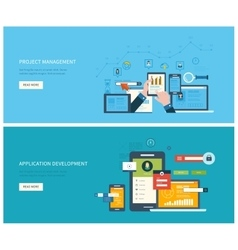 Project management and application development vector