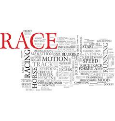 Race word cloud concept vector