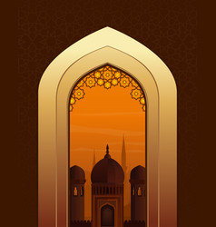 ramadan kareem beautiful greeting card vector image