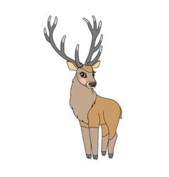 Scandi cartoon animal clip art vector