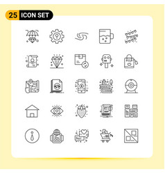 Set 25 lines on grid for party bulb buntings vector