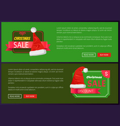 set of christmas ads posters vector image