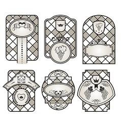 Set retro variation vintage labels 10 vector