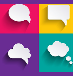 speech bubbles in flat design with shadows vector image