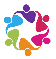 teamwork people embrace support icon vector image