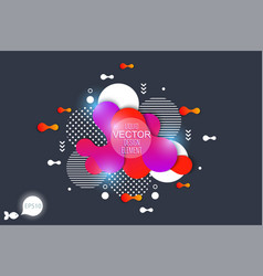 the modern liquid form design elements vector image