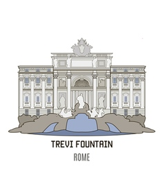 Trevi vector image