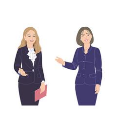 Two business women flat vector