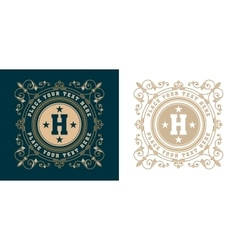 vintage logo template Hotel Restaurant Business vector image vector image