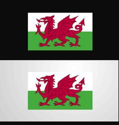 Wales flag banner design vector