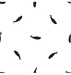 whale pattern seamless black vector image