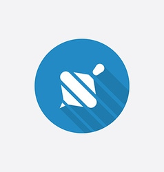 Whirligig Flat Blue Simple Icon with long shadow vector