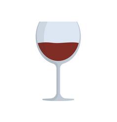 wine glass flat design icon vector image