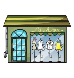 a clothing store vector image vector image