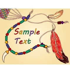 Colorful hand-drawn Indian background vector image vector image