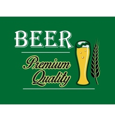 Beer and brewery emblem vector