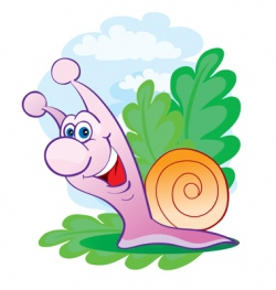 cheerful snail vector image vector image