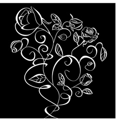 Decorative of Roses flowers vector image vector image