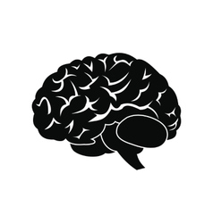Human brain black icon vector image vector image