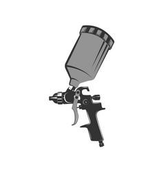 icon spray gun in retro style tool car painting vector image