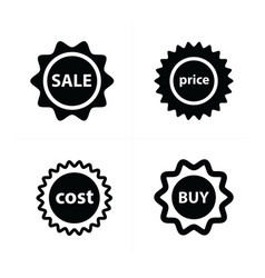 price tags label set vector image