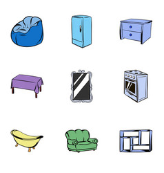 appointment icons set cartoon style vector image vector image