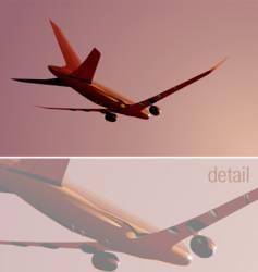 Boeing-787 vector image
