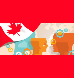 canada concept of thinking growing innovation vector image