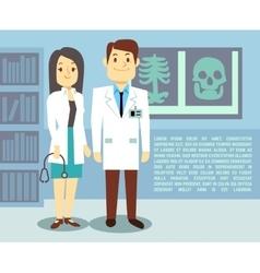 Doctor and hospital nurse healthcare vector image vector image