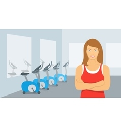 Personal fitness trainer woman in gym vector image vector image