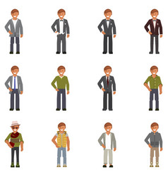 dress code for man vector image vector image