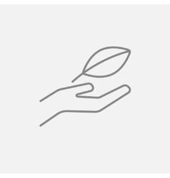 Environmental protection line icon vector image vector image