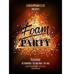 Night club flyer template for foam party vector