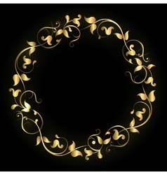 Round pattern gold vector
