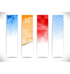 Vertical cards collection vector image vector image