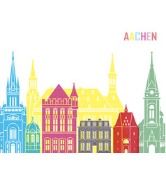 Aachen skyline pop vector