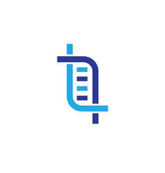 abstract dna symbol logo design vector image