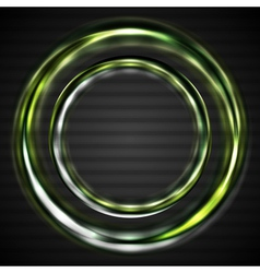 Abstract shiny rings vector image