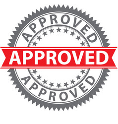 approved stamp certified badge vector image