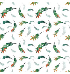 beautiful nature leaf seamless pattern vector image