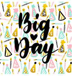 big day postcard design vector image